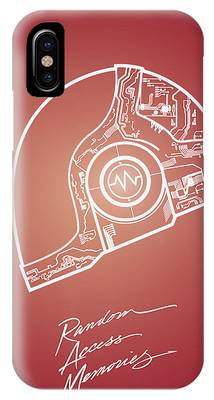 Daft Punk Guy Manuel Poster Random Access Memories Digital Illustration Print IPhone Case