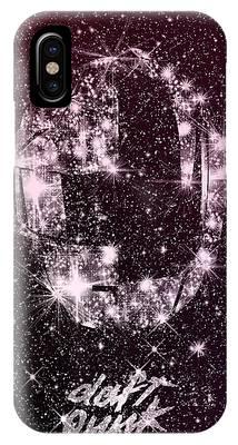 Daft Punk Poster Helmets Print Space Stars Random Access Memories Disco Retro Digital Print IPhone Case