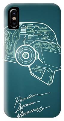 Daft Punk Thomas Poster Random Access Memories Digital Illustration Print IPhone Case