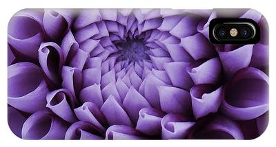 IPhone Case featuring the photograph Dahlia Macro In Lavender by Patricia Strand