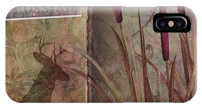 Log Cabin Art iPhone Cases