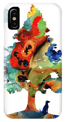 Dog Abstract Art Phone Cases