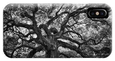 Dramatic Angel Oak In Black And White IPhone Case