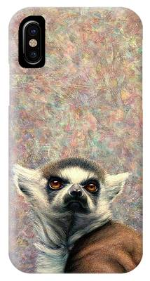 Ring-tailed Lemur Paintings iPhone Cases