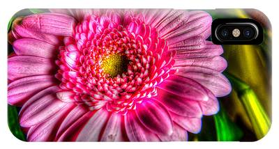 IPhone Case featuring the photograph Edgy Pink Daisy by Dennis Dame