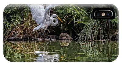Egret Hunting For Lunch IPhone Case