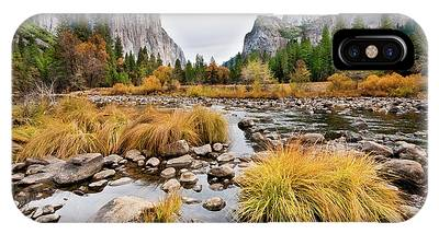 El Capitan And The Merced River In The Fall IPhone Case