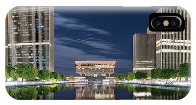 IPhone Case featuring the photograph Empire State Plaza by Brad Wenskoski