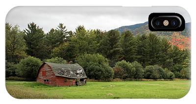 IPhone Case featuring the photograph Farewell Red Barn by Brad Wenskoski