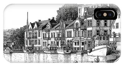 Farsund Drawings iPhone Cases