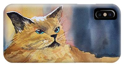Tan Cat Phone Cases