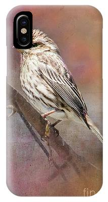 Female Sparrow On Branch Ginkelmier Inspired IPhone Case
