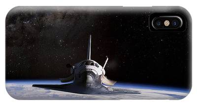 Kennedy Space Center Digital Art iPhone Cases