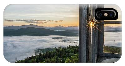 IPhone Case featuring the photograph Fire Tower Sunburst by Brad Wenskoski