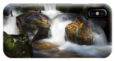 first spring sunlight on the Warme Bode, Harz IPhone Case