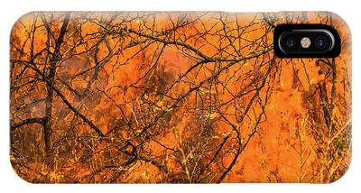IPhone Case featuring the photograph Forest Fire by Benny Marty