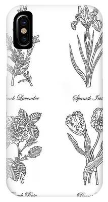 Lavender Drawings iPhone Cases