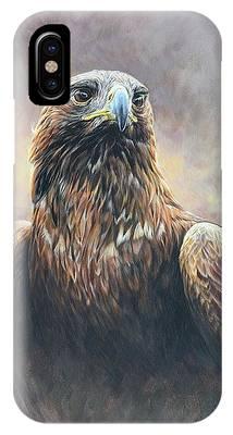 Golden Eagle Portrait IPhone Case
