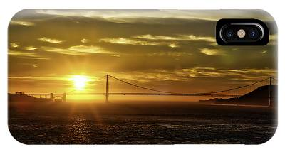 IPhone Case featuring the photograph Golden Gate Sunset by Chris Cousins