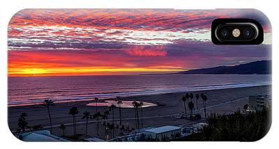 Golden Horizon At Sunset -  Panorama IPhone Case
