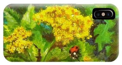 Golden Summer Blooms IPhone Case