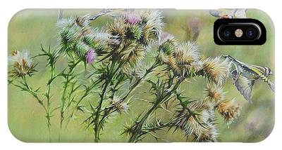 Goldfinches On Thistle IPhone Case