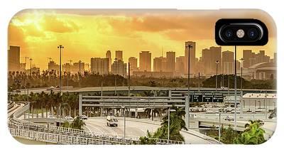 Miami City Sunrise IPhone Case