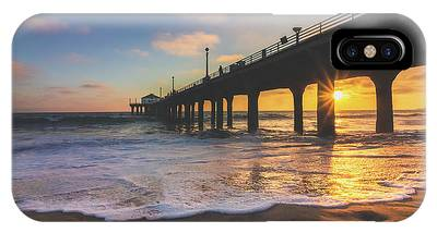 IPhone Case featuring the photograph Gorgeous Sunset At Manhattan Beach Pier by Andy Konieczny