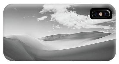 Great Sand Dunes National Park In Black And White IPhone Case