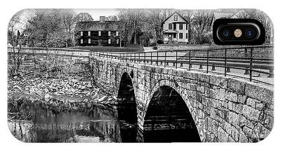 Green Street Bridge In Black And White IPhone Case