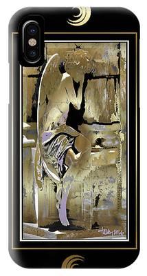 Grief Angel - Black Border IPhone Case