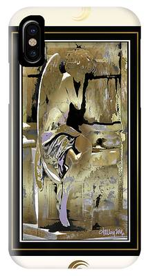 Grief Angel - Light Border IPhone Case