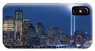 Ground Zero Tribute Lights And The Freedom Tower IPhone Case