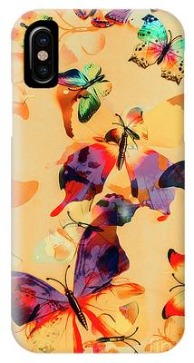 IPhone Case featuring the photograph Group Of Butterflies With Colorful Wings by Jorgo Photography - Wall Art Gallery