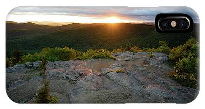 IPhone Case featuring the photograph Hadley Mountain Sunset by Brad Wenskoski