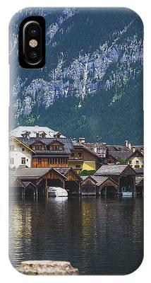 Hallstatt Lakeside Village In Austria IPhone Case by Andy Konieczny