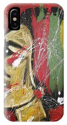 Hockey Paintings iPhone Cases