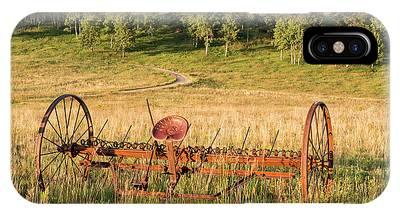 Hay Rake In Morning Sun IPhone Case