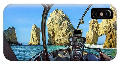 IPhone Case featuring the photograph Helicopter On Cabo San Lucas by Benny Marty