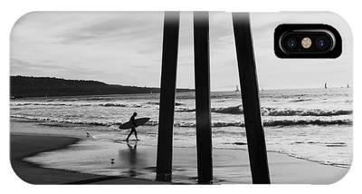 Hermosa Surfer Under Pier IPhone Case