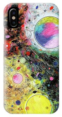 IPhone Case featuring the mixed media Hidden Aliens by Michael Lucarelli