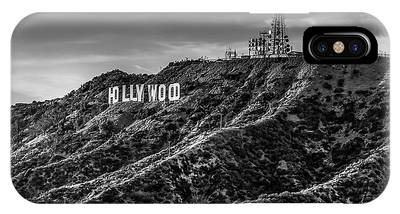 Hollywood Sign - Black And White IPhone Case