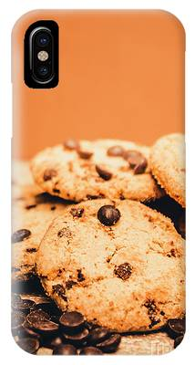 IPhone Case featuring the photograph Home Baked Chocolate Biscuits by Jorgo Photography - Wall Art Gallery
