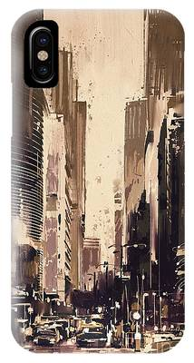 Hong-kong Cityscape Painting IPhone Case