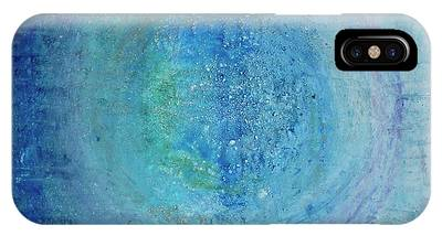 IPhone Case featuring the painting In The Beginning, Cosmic by Kim Nelson