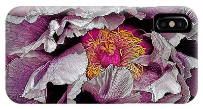 In The Eye Of The Peony IPhone Case