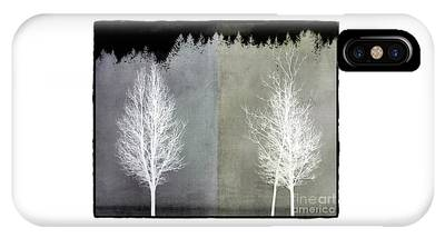 IPhone Case featuring the mixed media Infrared Trees With Texture by Patricia Strand