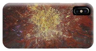 IPhone Case featuring the painting Inner Fire by Michael Lucarelli