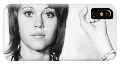 Jane Fonda Mug Shot Vertical IPhone Case