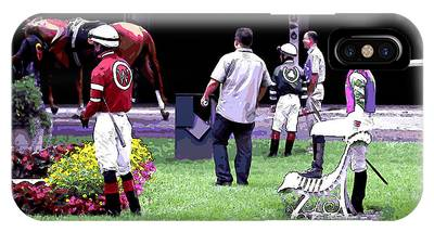 Jockeys Painting IPhone Case